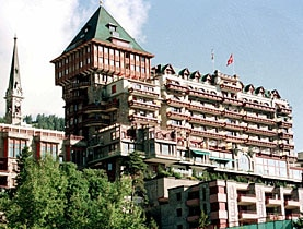 The Palace Hotel in St Moritz, now Badrutts Palace Hotel, towers over the resort