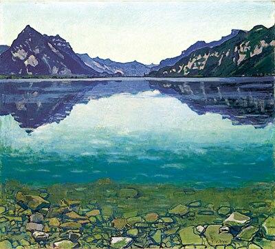 F.Hodler  -  Il Lago di Thun - 1905