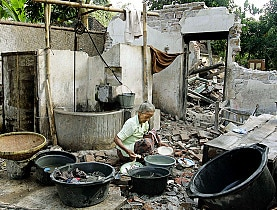The Red Cross said the biggest disaster of 2006 was the earthquake in Yogyakarta, Indonesia