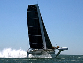 The Hydroptère is already the fastest wind-driven vessel around
