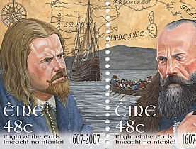 O'Donnell and O'Neill as they appear on Irish commemorative stamps