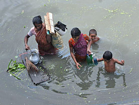Bangladesh has been suffering unusually heavy flooding