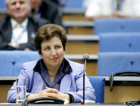 Shirin Ebadi was in Geneva for a panel discussion on human rights abuses in Iran