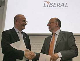Fulvio Pelli (left) and Pierre Weiss envisage a common future for their parties
