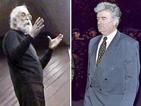 Radovan Karadzic in 1995 (right) and in a recent photograph released on Tuesday