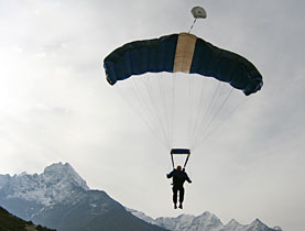 Skydivers have never tackled the Everest region before
