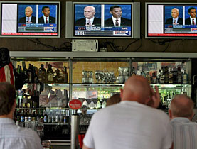 Americans abroad watch intently as Obama and McCain clash in their first presidential debate