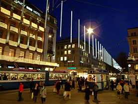 Bahnhofstrasse is a magnet for bankers, tourists and shoppers in general