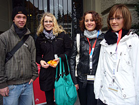 Valentin, Simone, Stefania and Ursula came from Winterthur to the youth session in Bern
