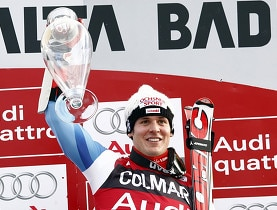 Albrecht comes from behind to take giant slalom victory