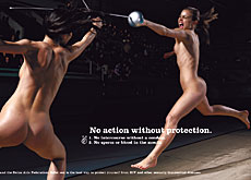 Pointed message: the latest campaign focuses on the importance of protection (Swiss Aids Federation)