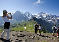 The Alps are what attract tourists to Switzerland the most