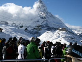 Ski resorts like Zermatt have benefited from large amounts of snow this season