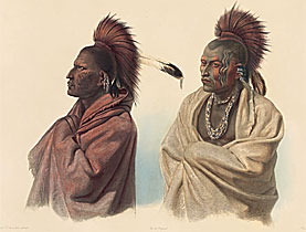 North American natives as seen by Karl Bodmer (1809-1893)