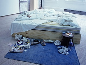Organised chaos: My Bed, by Tracey Emin, was sold for £150,000