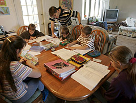 Supporters of home schooling say more time is spent focusing on education and less on conflict resolution, and it allows children to follow their specific interests