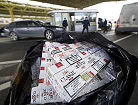 The number of serious cigarette smuggling offences increased tenfold in Switzerland between 2003-2007