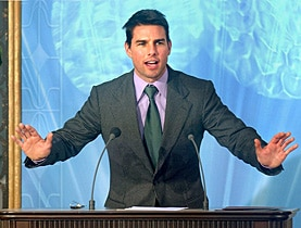 Actor Tom Cruise, a Scientologist, opened the Spanish headquarters of the church in 2004