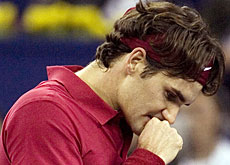 Federer lost the opening match, 3-6, 7-6, 7-5