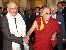 The Dalai Lama met Swiss cabinet minister Pascal Couchepin during a visit to Zurich in 2005