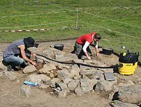 Charcoal samples revealed the hut had been in use nearly 3,000 years ago