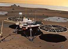 Anyone there? The Phoenix Lander's arm will collect samples which Swiss technology will help analyse