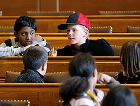 The children's parliament: respect for children's views is a core principle of the convention