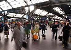 350,000 people pass through Zurich's main station every day