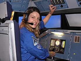 Barbara Burtscher did an exceptional job in a Nasa flight simulator in the US