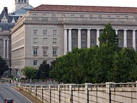 Sede do fisco dos EUA (IRS), em Washington.