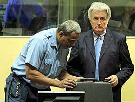 Boycott: Radovan Karadzic says he needs more time to prepare his own defence