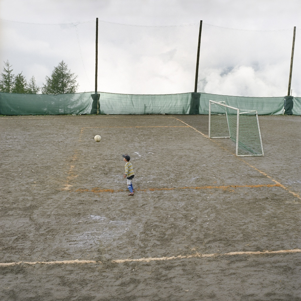 A village football tournament in Gspon, canton Valais, Switzerland.