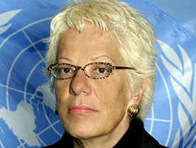 Carla Del Ponte, outgoing chief prosecutor at the International Criminal Tribunal for the Former Yugoslavia