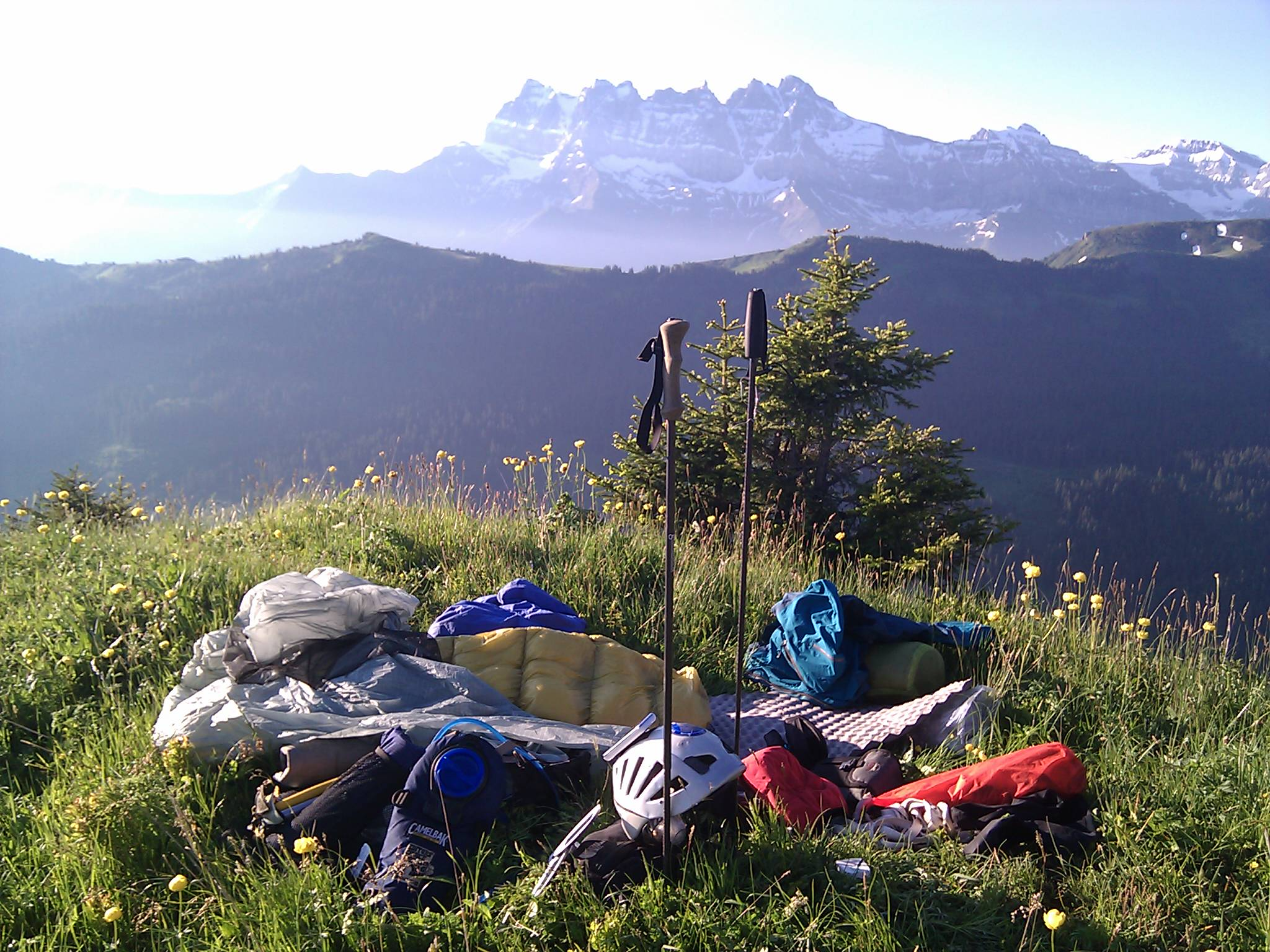 Where I woke up this morning. Les Dents du Midi. Just stunning...