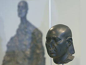 The Berlin Green Head with Giacometti's Lotar II in the background