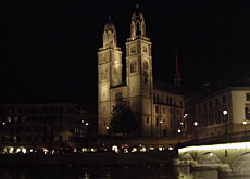 The Grossmünster church is at the centre of one of the most gruesome tales
