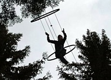 One of the high wire acts in Gantrisch