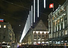 Bahnhofstrasse now has a new Christmas face