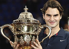 Federer is no stranger to receiving silverware such as this