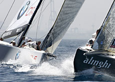 There's no plain sailing between Oracle and Alinghi for the time being