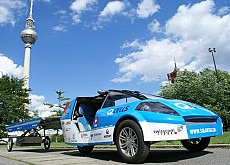 The solar taxi makes a stop in Berlin