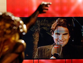 Roger Federer was pleased to receive the award from his home country