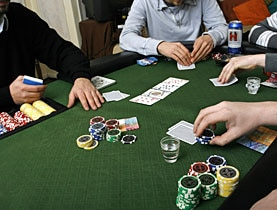 Private games among friends are legal as long as no commission is paid to the homeowner