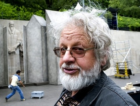 François Rochaix before the stage at the Parc des Bastions in Geneva