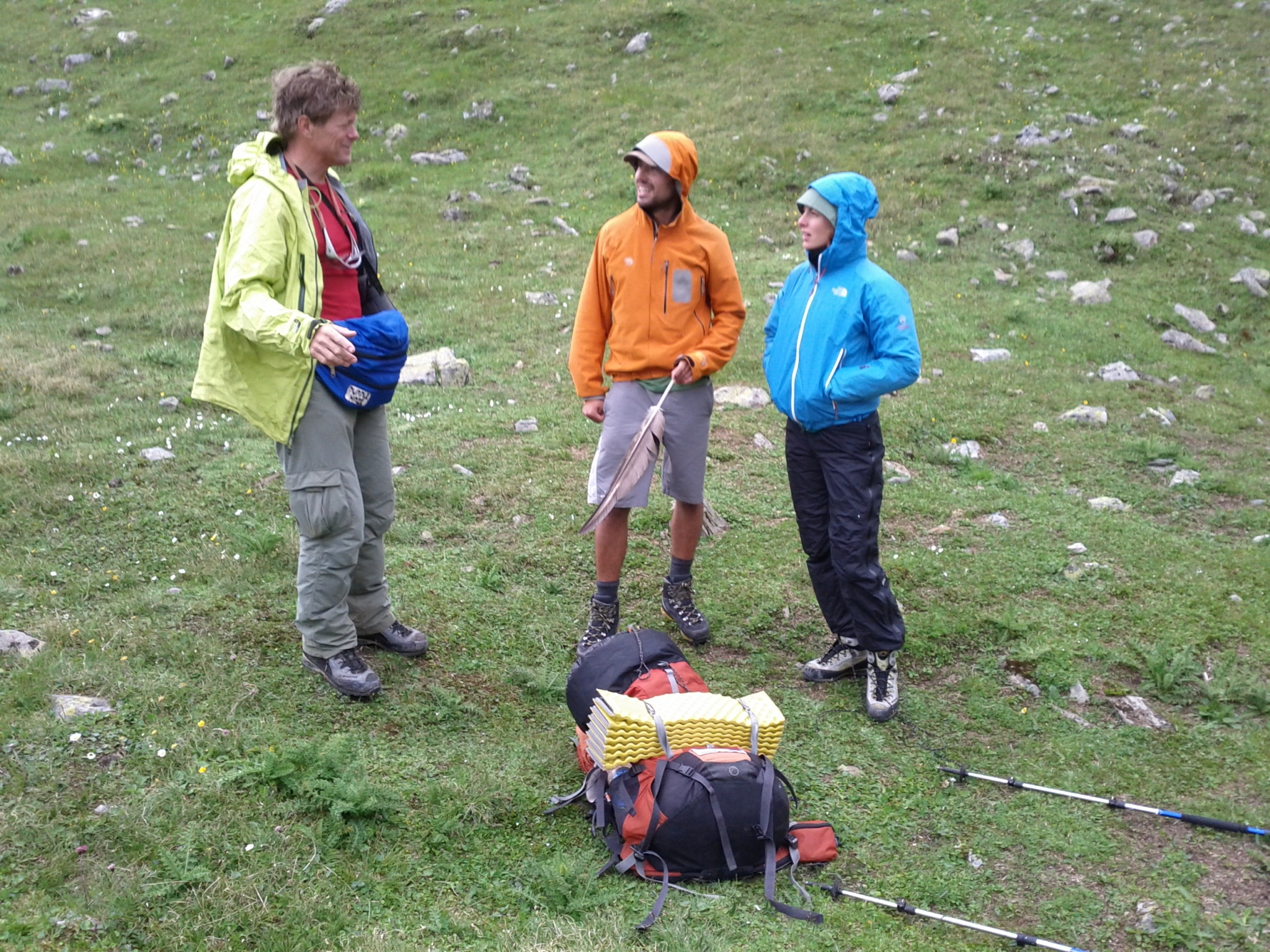 Meeting Elias Meyer and Jenny Kehl at their campsite on Lai da Fasch Alba during their Graubünden border tour.