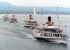 Paddle steamers are part of the sights tourists visiting Switzerland take in