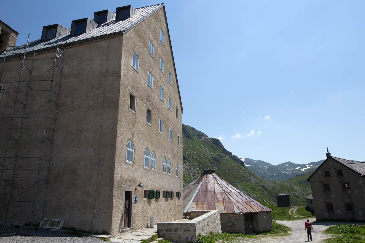 The St Gotthard Hospice at the top of the pass. The first written account indicating the presence of a hospice there dates from 1237.