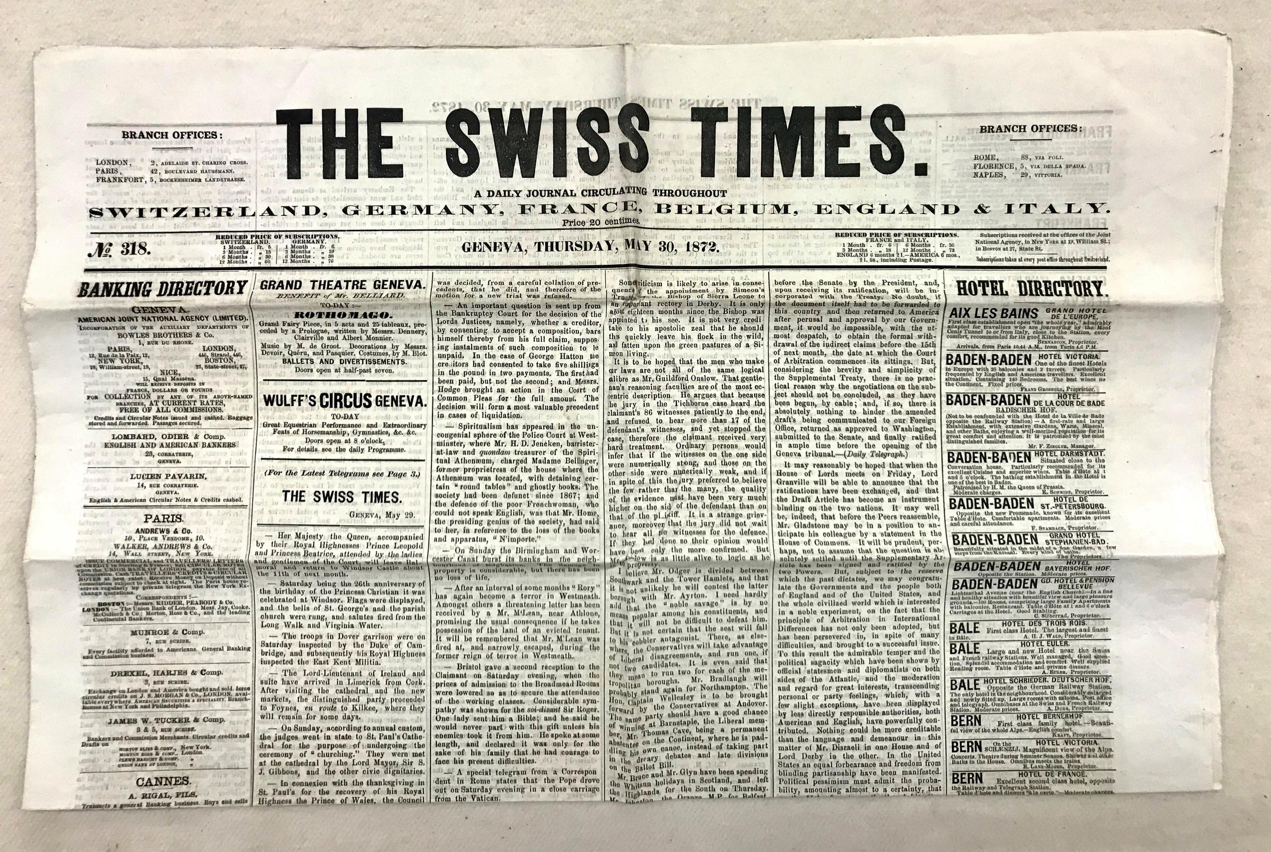 the swiss times