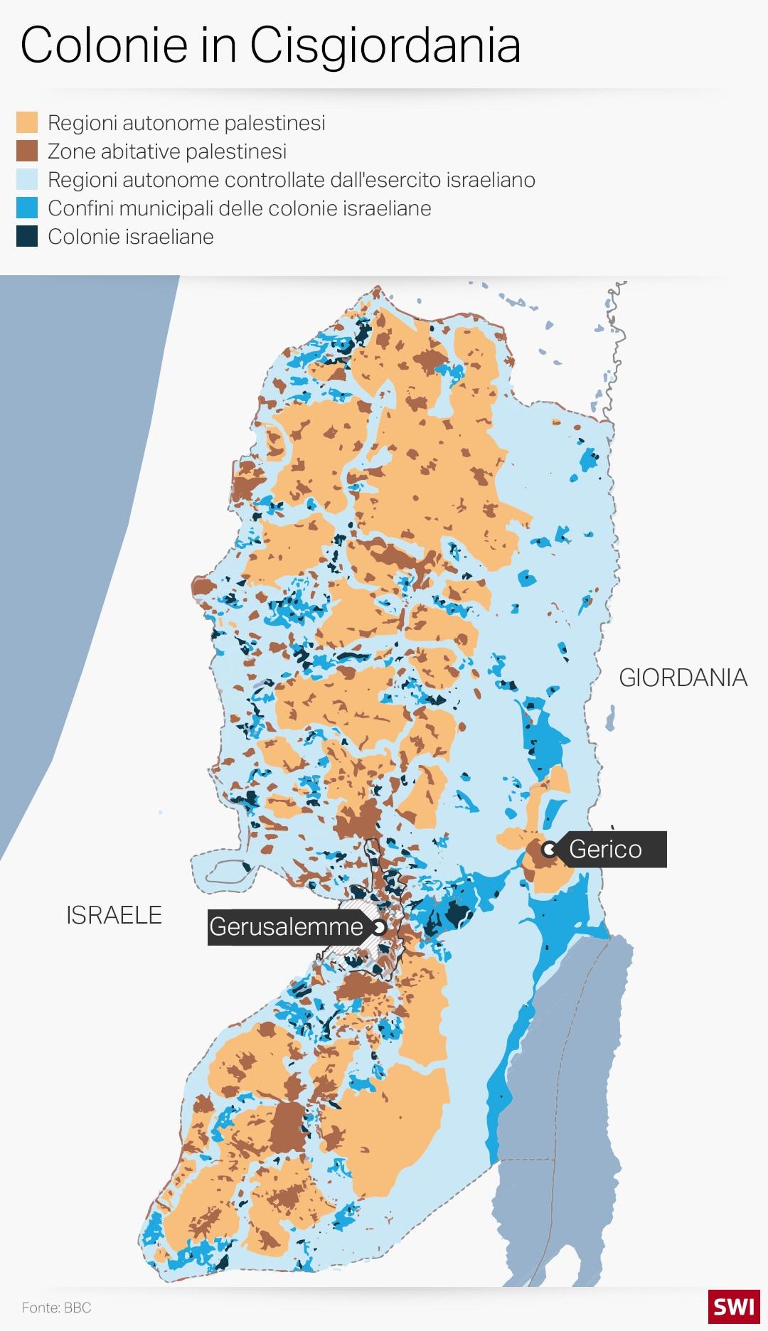 Cartina Geografica Della Palestina Di Oggi.Uno Stato Israelo Palestinese Alla Svizzera Swi Swissinfo Ch