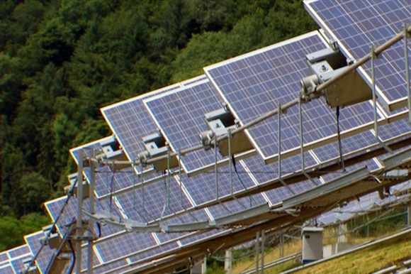 Solar plants in the countryside